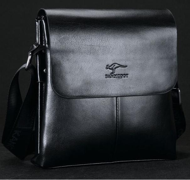 24093ec22e457 Pánska kožená taška BANDICOOT KANGAROO KINGDOM Černá empty