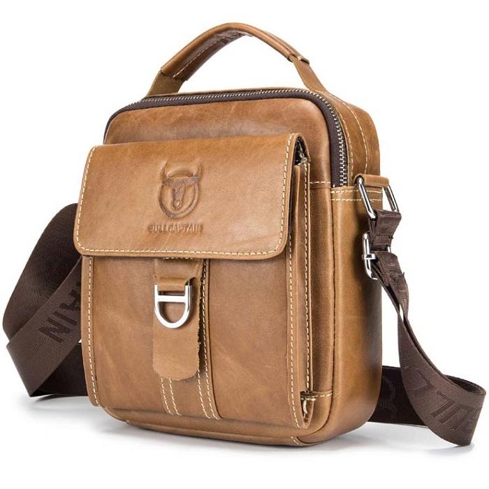 55d4197641 Pánska kožená taška Bullcaptain