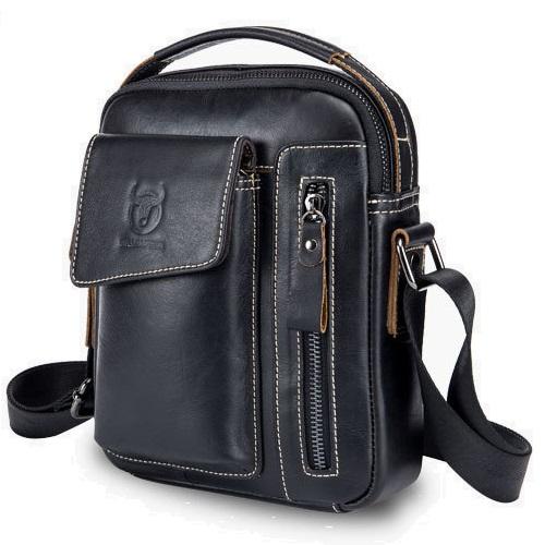 d61ee8ceb7d56 Pánska kožená taška HandyTwo od Bullcaptain empty